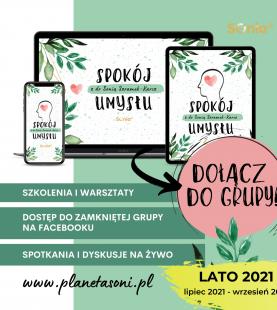 """Zabezpieczony: Grupa VIP """"Spokój umysłu z dr Sonią Szramek-Karcz"""""""